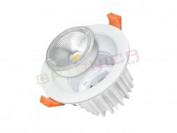 2LED downlighter 5W  okrugli, zamjenjiv, prirodno bijela – Optonica