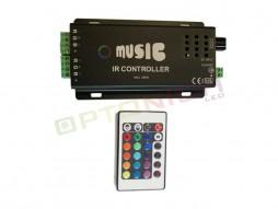 Kontroler za LED traku, radi na zvuk, DC12V, 3x6A – Optonica