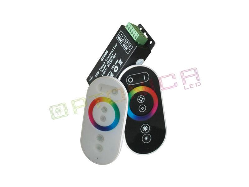 Optonica Daljinski kontroler za LED traku RGB MINI 216W 18A – Na dodir, crni