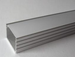 Aluminijski profil za LED traku ALP61A, ravni 1m + frost pokrov
