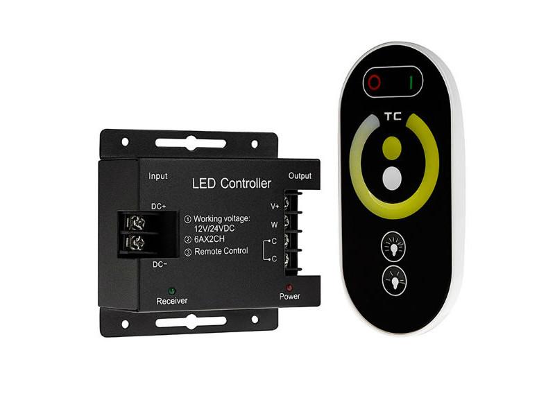 DDO Kontroler za LED traku,singl color, daljinski, 12V-24V 12A max 288W