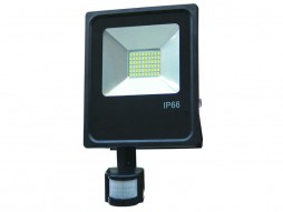 LED SMD radni reflektor 30W AC95V-AC265V 80lm/W 150° 2700K topla bijela – IP66 vodootporno sa senzorom – Optonica